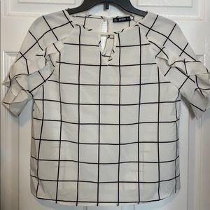 White Pattern Blouse